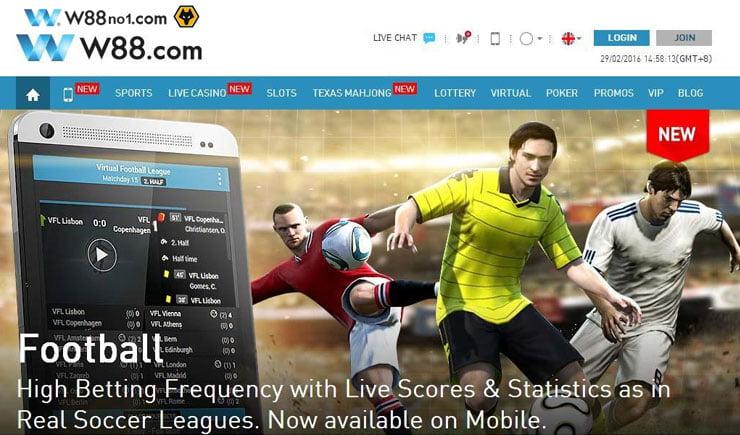 Trang web cá độ bóng đá trực tuyến W88