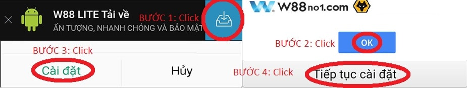 hướng dẫn tải app W88 trên Android
